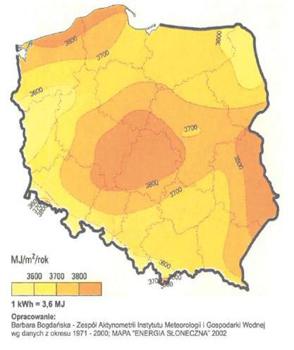 Słoneczna mapa Polski